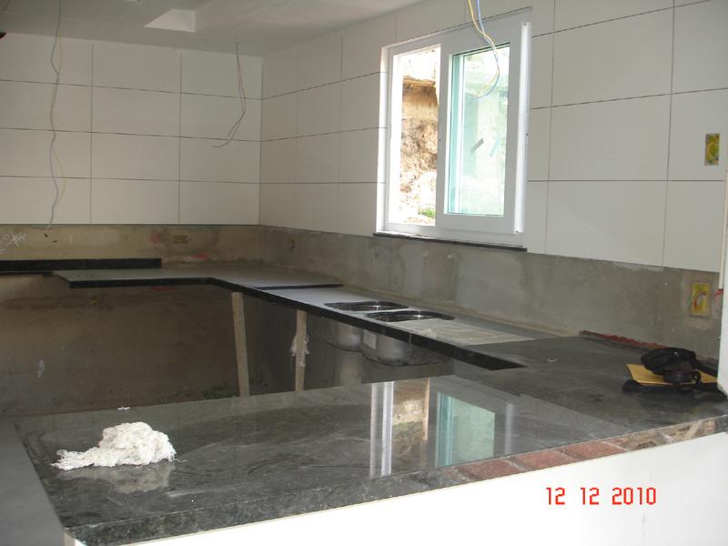 cozinha  Em construçãoCasa Nova! # Bancada Cozinha Simples
